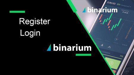 How to Register and Login Account in Binarium