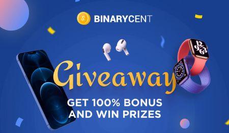 Promozione di deposito Binarycent - Bonus fino al 100%