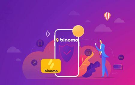 Binomo에 로그인하고 자금을 입금하는 방법