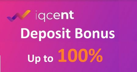 IQcent Deposit Bonus - Up to 100% Bonus
