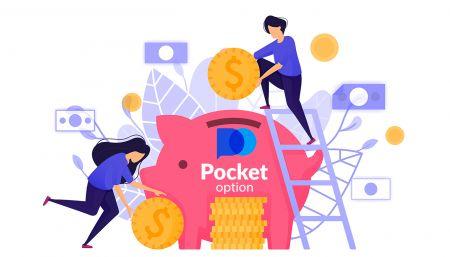 Geld abheben und einzahlen in Pocket Option