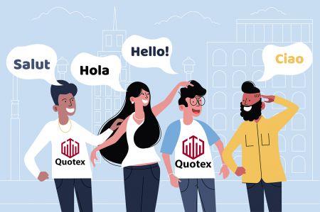 Quotex mehrsprachiger Support
