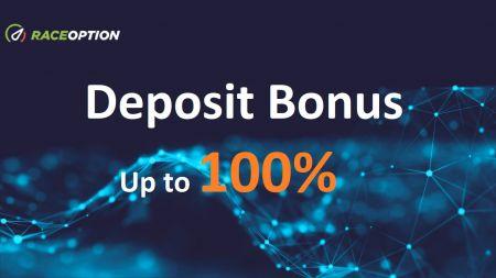 Promozione deposito Raceoption - Bonus fino al 100%