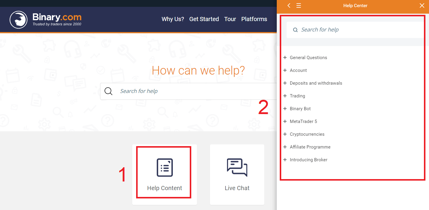 How to Contact Binary.com Support