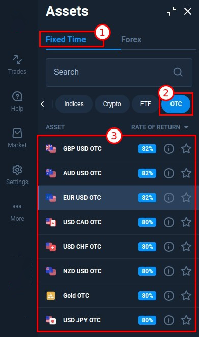 OTC trading at ExpertOption. How to trade during the weekend?