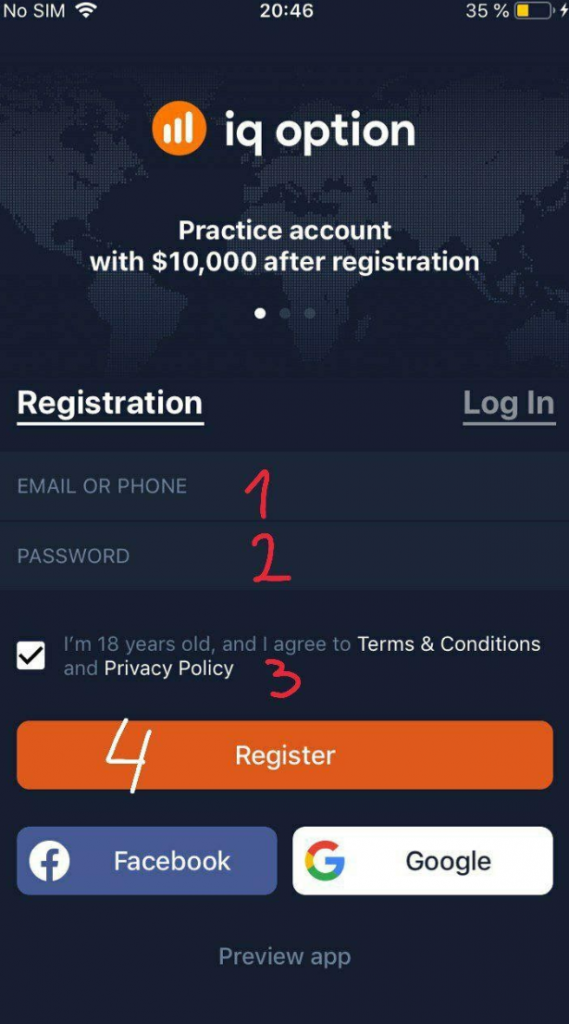 How to Register an IQ Option account on the Web and Mobile Apps?