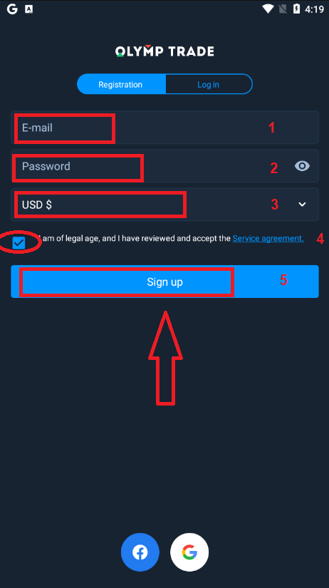 How to Open a Trading Account in Olymp Trade