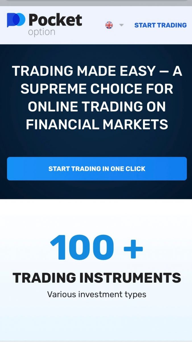 How to Open a Pocket Option Trading Account